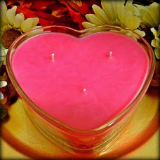 Heart Dish Candle