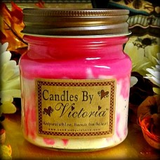 Strawberry Angel Food Cake Candle